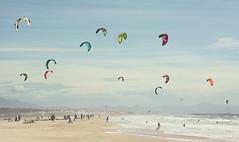 Tarifa Beach Kite Boarding (Simon Verrall) Tags: kiteboarding kitesurfing tarifa spain andalucia sea beach sky playadeloslances