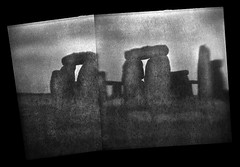 Imagining Stonehenge (Chuck Baker) Tags: alternative analog architecture blackandwhite building blackwhite believe brownie camera cathedral church darkroom eastman film field flip flipped farm hawkeye history kodak lomography lomo life love lens monochrome notechography old photography photograph plastic peace panorama rural ruins religion surreal toy uk verichrome wall z