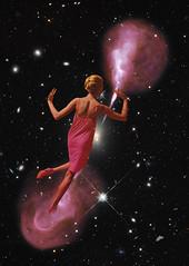 insurmountable. (// P*) Tags: collage vintage retro girl pink nebula cosmos