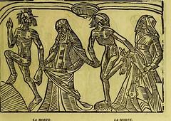 This image is taken from Page 43 of La grande danse macabre des hommes et des femmes : précédée du dict des trois mors et dfs [!] trois vifz, du Débat du corps et de l'ame, et de La complaincte de l'ame damp (Medical Heritage Library, Inc.) Tags: dance death wellcomelibrary ukmhl medicalheritagelibrary europeanlibraries date1862 idb24877402