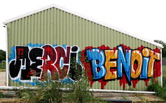 graffiti in Amsterdam (wojofoto) Tags: amsterdam graffiti streetart nederland netherland holland wojofoto wolfgangjosten benoi benoit merci