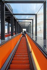 Zollverein coal mine - the long escalator (keinidyll) Tags: ruhrgebiet essen zechezollverein industriemuseum escalator