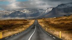 Snæfellsnes Peninsula (Jay-Aitch) Tags: snæfellsnes peninsula borgarfjarðarbrú iceland scenery road snow mountain hill nordic lumix g vario 14140f3556 panasonic dcgx9