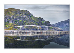 The Bridge (Fr@nk ) Tags: img0036 mrtungsten62 frnk rec0309 europ12 norway norge travel water sea fjord bridge carsteep corner high mirror reflections sky ciel himmel mountain hill green flora fauna nature landscape vacation holiday rv camper canon6d ef70200mmisl ektachrome