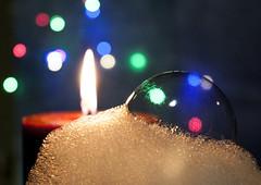 Macro Monday - Remedy - Candle lit bubble bath (OnkiPonki) Tags: macromondays remedy macro macrolens bubbles candle canon eos 40d bokeh bath