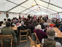 Visitors listen to 5 Star Swing in the Dance Hall 13Oct18