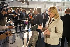 Karin Kneissl beim RAB in Luxemburg am 15. Oktober