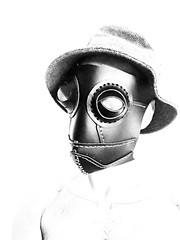 Leather mask (ANTONIOM.) Tags: burningman carnevale mask handmade leathercraft cosplay steampunk facemask leathermask leather