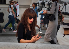a look at her pics (try...error) Tags: street streetphotography photographer urban pretty female phone mobile leica c clux woman red lips asian people tourist