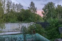 Canal bridge (d0mokun) Tags: blackcountry railway southstaffsline abandoned autumn bridges graffiti sunset urbandecay urbanexploration urbanlandscape urbex westmidlands tipton england unitedkingdom gb