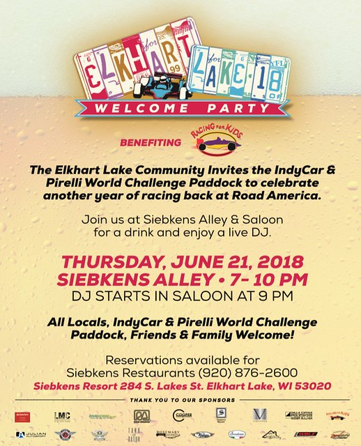Elkhart Lake Welcome Indy Racing For Kids Party - Charity.1
