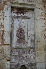 Porte à Montjaux (Michel Seguret Thanks for 13.6 M views !!!) Tags: france aveyron montjaux porte door mur wall automne autumn fall bw nb michelseguret nikon d800 pro