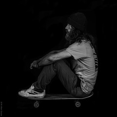 self-portrait (B.Graulus) Tags: photography monochrome skate skateboardphotography selfportrait portrait skateboarder picture canon bnw belgium