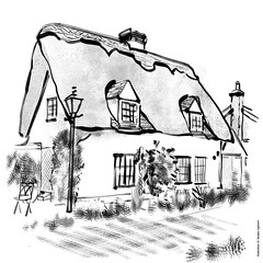 Caldecote, Hertfordshire (Serhii - photo, graphics) Tags: watercolor digitalwatercolor architecture drawing architecturaldrawing