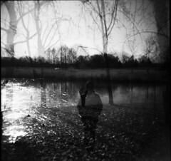 (Victoria Yarlikova) Tags: 120mm holga monochrome mediumformat scan toycamera film analog doubleexposure winter lomo surreal