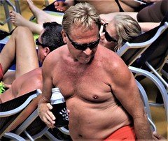 people on cruise pool deck (miosoleegrant2) Tags: ship deck cruise vacation sea pool swim barechest naked bare chest swimsuit swimwear sunning male men hunk muscle masculine pecs torso guy chested buzz armpits hairy nipples abs navel outdoor water swimming sport husky burly strapping brawny speedo people belly woolly furry bushy barbellate hirsute bristly fluffy stubbly