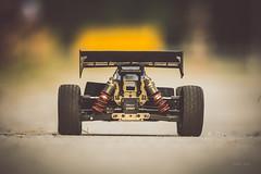 Maximum speed test (Soren Wolf) Tags: rc electric car cars behind close up short dof depth field nikon d7200 300mm symmetry symmetric