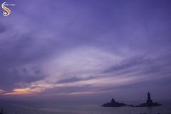 Positive Space (Shikher Singh) Tags: vivekanandrock thiruvalluvarstatue kanyakumari tamilnadu arabiansea bayofbengal indianocean sea ocean shore horizon dawn morning clouds shikhersimagery