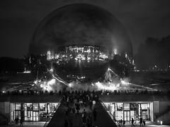 La Géode électrisée (Daniel_Hache) Tags: 2018 paris blanche nuit france fr