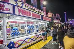 Night Time Snack (VA State Fair 2018) (Airborne Guy) Tags: virginiastatefair fair carnival vendor night 2018 people food concessionstand deepfried oreos funnelcake fries snacks