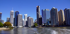 Brisbane skyline (little_frank) Tags: brisbane australia queensland river cruise architecture skyline skyscraper tower exploring facade new modern impressive urban capital city town centre lines geometry geometric cityscape building construction contemporary riverfront waterfront 澳大利亚 australien australie 호주 オーストラリア австралия