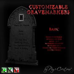 ღ ♡  Gravemarkers - Basic Dk by Page Creations™ ♡ ღ (Raven Page) Tags: halloween props decor mesh spooky scary fog pumpkins gothic goth