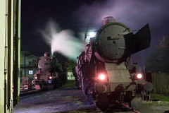 Kriegsloks 33-248 and 33-064 on Bukinje shed. (ralfedge) Tags: bukinje federacijabosneihercegovine bosniaandherzegovina kriegslok depot steam nightshot