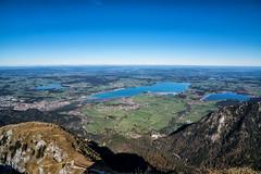 Forggensee, Bannwaldsee und Hopfensee vom Säuling (stefangruber82) Tags: alpen alps tirol tyrol bavaria bayern lakes seen herbst fall mountains berge