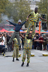 DSC_2015 Africa on the Square October 27 2018 Trafalgar Square London Black History Month. Emmanuel Okine Acrobats Troupe. Emmanuel has been developing his craft in Ghana since the age of five combining traditional African acrobatics with skills learnt in (photographer695) Tags: africa square october 27 2018 trafalgar london black history month emmanuel okine acrobats troupe has been developing his craft ghana since age five combining traditional african acrobatics with skills learnt training chinese state
