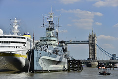 HMS Belfast, Viewed From The River Thames 03/08/2018 (Gary S. Crutchley) Tags: thames london river hms belfast cruiser ship royal navy second world war 2 ii two imperial museum iwm uk great britain england united kingdom city nikon d800 travel history heritage