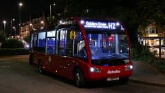 Night Garden Solo (londonbusexplorer) Tags: metroline travel optare solo slimline sr os2501 yj68fxf h2 golders green hampstead garden suburb circular tfl london buses