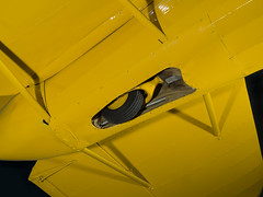 Beechcraft C17L Staggerwing Landing Gear (Smithsonian National Air and Space Museum) Tags: aircraft beechcraftc17lstaggerwing nationalairandspacemuseum airandspacephoto aviation beechaircraftcompany greatdepression 781beech17s presidentwalterbeech vicepresidentted