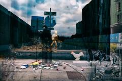 20180916 Morning Memory (-Dons) Tags: austin texas unitedstates memoryphotos projects streetart tx usa chicken bear toysoldier trash waller wallerstreet construction