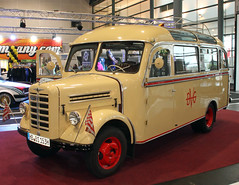 Borgward Bus (Schwanzus_Longus) Tags: 1500 beige borgward bremen bus classic creme depot german germany public short small transportation truck vehicle vintage d b old b1500d hanse life