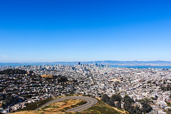 Above the City (shiruichua) Tags: city san francisco sf california twin peaks buildings sky high birds eye view cityline skyscraper industrial road canont5i 18135mm lens 700d lightroom