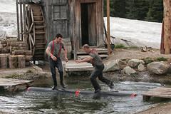 Lumberjack show, Grouse Mountain, Vancouver (crafty1tutu (Ann)) Tags: travel holiday 2018 canadaandalaska canada grousemountain vancouver lumberjack show fun water log crafty1tutu canon5dmkiii canon24105lserieslens anncameron
