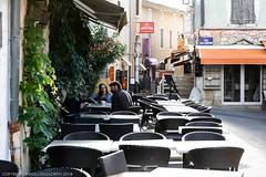 Vallon-Pont-d'Arc, Auvergne Rhone-Alps, France (doublejeopardy) Tags: chair france rhonealps vallon table pontdarc auergne coffee customers vallonpontdarc ardèche fr