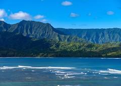 Na Pali Coast, Kauai, Hawaii, USA (Seymour Lu) Tags: statepark coastal travel nature gh5 mac panasonic lumix zoom pacific ocean landscape distance scenery mountains hills usa hawaii kauai hanalei princeville napalicoast