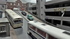 Rose Bank, Sheffield 1975. (ManOfYorkshire) Tags: rosebank diorama diecast efe bus buses cars oxforddiecast 176 scale oogauge aec swift 6bay 36ft sheffield transport city busstop steepest 1975 ford cortina morris minor vw t2 van