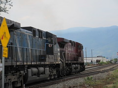 Takes two (jamica1) Tags: freight locomotive train railway railroad cp cpr canadian pacific salmon arm shuswap bc british columbia canada cefx
