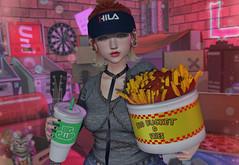 Big Glup (Gabriella Marshdevil ~ Trying to catch up!) Tags: sl secondlife cute kawaii doll arcade spiritstore taketomi junkfood gacha mudskin