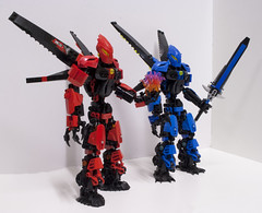 (Red) Cossy, Lord of Fire (Ben Cossy) Tags: red rossy moc afol tfol lego ccbs toa bionicle biogram biotube self lord fire blue flames