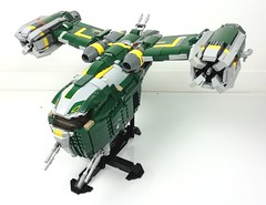 moc ss-54 (Chaurand Damien) Tags: green route personnes assault gunship fiction science space ship moc brick buil clone hunter bounty wars star lego