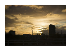 Chim chiminey (alideniese) Tags: prahran melbourne australia sunset stormy weather landscape alideniese lensbaby blur