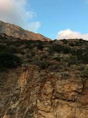 (Paradiso's) Tags: canyon mountain landscape sky mountainside grass goat geit gede capra browsing sifnos greece