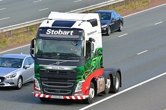 KX66 MXV (Martin's Online Photography) Tags: eddiestobart volvo fh4 truck wagon lorry vehicle freight haulage commercial transport a1m northyorkshire nikon nikond7200 h4674