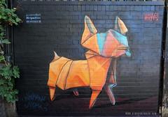 Selhurst Dog (Airborne Mark) Tags: origamidog origamiart origami