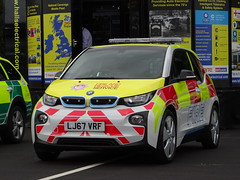 BMW i3 Fire and Rescue Service Demonstrator, LJ67 VRF. (Vinnyman1) Tags: fire rescue service bmw i3 demonstrator lj67 vrf ess emergency services show 2018 nec national exhibtion centre police ambulance birmingham west midlands england uk united kingdom gb great britain