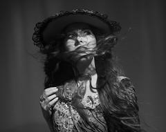 "Sunny day (Pawel Wietecha) Tags: sun girl woman lady model light new art emotions portrait eyes look face hair pretty beauty glamour people makeup style dark pawel wietecha femme fille dame beauté belleza dama niña bellezza signora ragazza belle blackandwhite bw mono monochrome blanc weis schwarz noir black white ""bw"" blackwhite hat dress"