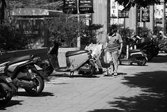 掃地翁|青海家樂福 (briandodotseng59) Tags: 台灣 台中 家樂福 人 黑白 asia taiwan mall street streetphoto road black white blackwhite people motor gogoro light shadow sun daily day nikkor nikon d80 frame nikonflickraward